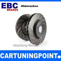 EBC Brake Discs Rear Axle Turbo GROOVE FOR AUDI A4 8K2,B8 GD1572