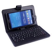 HDE Diamond Stitch Hard Leather Folding Folio Case Cover with Micro USB Keyboard
