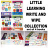 Little Learning Write and Wipe Collection Set of 4  First Words Numbers Shapes