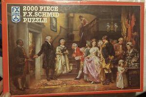 "F.X. SCHMID 2000 pc Jigsaw Puzzle "" Washington's Silver Wedding 1784"" New"