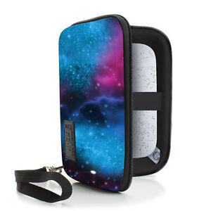 USA GEAR Hard Shell HP Sprocket Pocket Printer Carrying Case - Galaxy