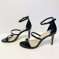 Nine West Womens Shoes Size 6M 36 Patent Leather Strappy Stilettos Heels Black
