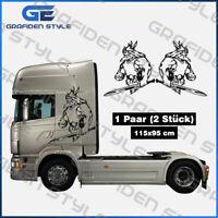 1 Paar  VIKING - LKW Kabinenseite Aufkleber - Sticker - Decal - H 115cm x B 95cm