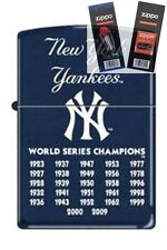 Zippo 8221 ny yankees 27 times Lighter with *FLINT & WICK GIFT SET*