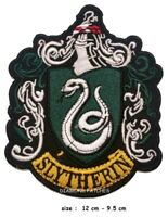 Harry Potter Slytherin Embroidered Iron On Sew On Patch Badge large
