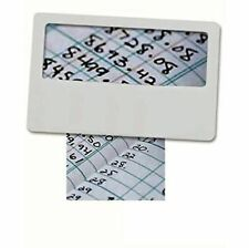 Pocket Credit Card Size Magnifying Card, Slim Reading Lens, Partially Sighted