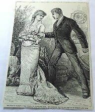 1886 magazine engraving ~ Who Was To Blame? - Wife And Husband Argue