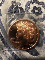 uncirculated 1 oz. 999 fine bullion round -1921 Copper