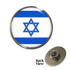 Flag of Israel Pin Badge Jewish Ashkenazi Tallit Magen David Judaism Brand New
