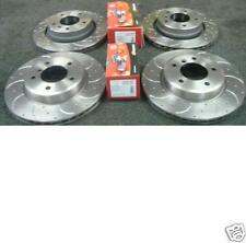 FOR BMW 325CI E46 CROSS DRILLED GROOVED BRAKE DISC MINTEX PAD FRONT REAR SET