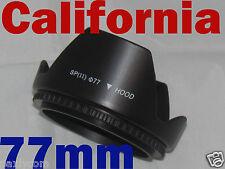 77mm Screw Mount Flower Lens Hood Crown 4 Canon Nikon Sony Sigma Pentax Olympus