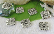 15PCS Tibetan silver ornate square spacer beads FC10615