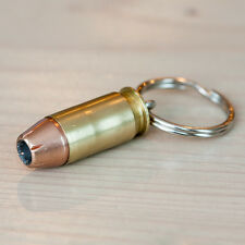 .45 Auto Pistol ACP Hollow-point Bullet Key Chains - Handmade in USA