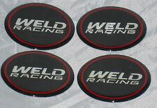 "WELD RACING WHEELS SET OF 4 EMBLEM WHEEL RIM CENTER CAP DECALS STICKERS 2"" DIA"