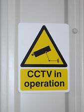 Security Camera Warning Sign - A5 (15 x 20 cm) Outside or Inside Use