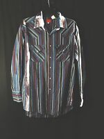 Ely Plains vintage men's long sleeve button up western shirt size Large