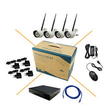 4CH HD 720P WIFI Wireless IP Camera System 8CH NVR KIT P2P CCTV Motion Detection