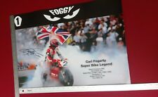 Carl Fogarty 2 A2 Signed Poster with full COA