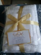 New Luxury Home 100%  Cotton Towels 6pc white.