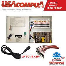 18 CH Power Supply CCTV Camera 18 Port 12V DC+ Pigtail Auto Reset 10 AMP