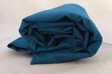 Full Sea Blue Flat Sheet Carefree Wrinkle Free Company Store Supima Ocean Deep