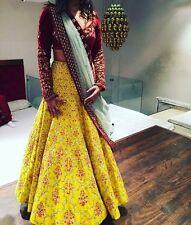 Bollywood Indian Saree Sari Long Gown Anarkali Suit Dress Lehenga Choli Ghagra