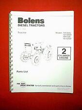 BOLENS ISEKI DIESEL 2 & 4 WD TRACTOR MODELS TX1300 1300F 1500 1500F PARTS MANUAL