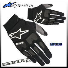 GUANTI CROSS ENDURO ALPINESTARS RACEFEND GLOVE 2018 BLACK WHITE TAGLIA M