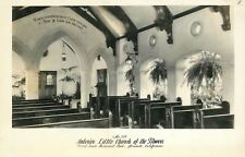 Glendale California~Interior Little Church of Flowers~1930s Real Photo~RPPC