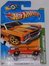 2012 HOT WHEELS REGULAR TREASURE HUNT 1970 CHEVY CHEVELLE CONVERTIBLE