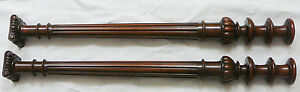 pair of French Antique walnut  Columns Balusters