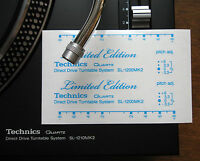 2 x Technics decal sticker SL1200 mk2 LTD LIMITED EDITION - Printed SKY BLUE