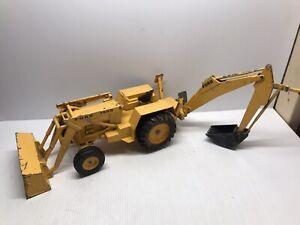 """Ertl 1/12 36"""" Vintage  FORD 7500 Backhoe Tractor Metal Toy"""
