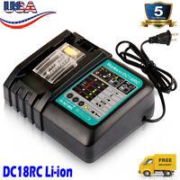 14.4V-18V for Makita DC18RC 18 Volt Lithium ion Charger for BL1830 BL1845 BL1860