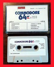 GIOCHI COMMODORE 64 CASSETTA SUPER COMMODORE 64 & 128 N. 6 GIOCHI RETROCOMPUTER