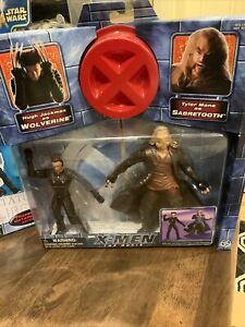 x-men action figure PACK WOLVERINE  SABERETOOTH