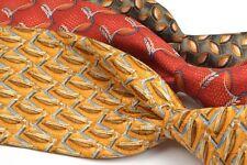 3 TIE LOT - ERMENEGILDO ZEGNA Luxury 100% Silk Mens Tie