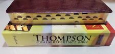 KJV Thompson Chain-Reference Bible Large Print Genuine Leather Burgundy, Indexed