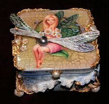 "One of a Kind Fedoskino Lacquer Box ""A Fairy and the Dragon Fly "" by Shenshin"