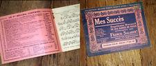 recueil 24 partitions Saxophone alto ou clarinette Mi b Mes Succès n°7 Salabert