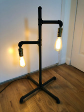 Vintage Industrial Steampunk Edison Pipe Lamp - Restoration Hardware