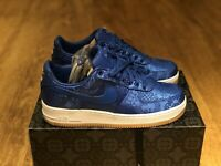 NIKE AIR FORCE 1 PRM/CLOT TRAINERS BLUE SILK UK7.5 EUR42 US8.5 CJ5290-400
