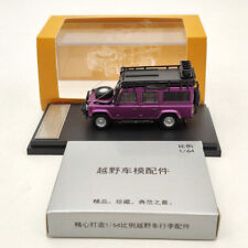 Master 1:64 Land Rover Defender 110 Diecast Models Collection Purple Toys Car