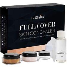 Glossiva Tattoo Concealer - Skin Concealer - Waterproof - For Dark Spots, Scars,