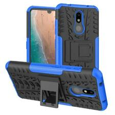 Nokia 3V / 3.2 Case TPU Shockproof with Kickstand Heavy Blue Protective Cover