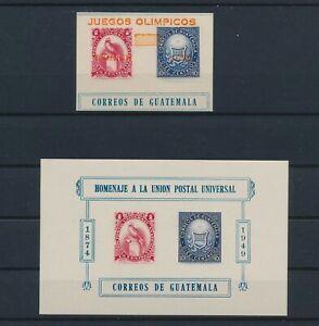LO43044 Guatemala 1949 UPU anniversary imperf sheet MNH