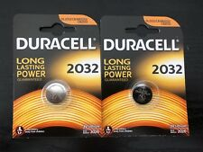 2X UK Duracell 2032 3V Lithium Coin Cell Batteries CR2032 DL2032 Battery - New