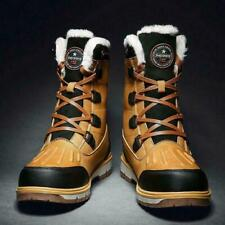 Mens Winter Snow Fur Boots High Top Waterproof Insulated Hunting Hiking Shoes Sz