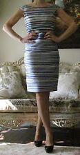 CHRISTIAN DIOR Runway Multicoloured Striped print Dress IT 40,US 4-6,UK 8,XS-S