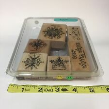 2003 Stampin Up Enchanted Snowflakes Rubber Stamp Set of 6 Wood-Mounted Winter